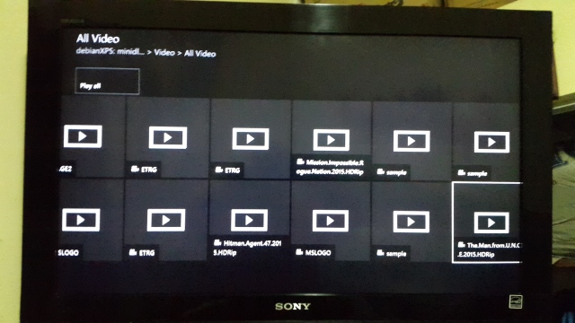 XBOX Media Player DLNA Movies