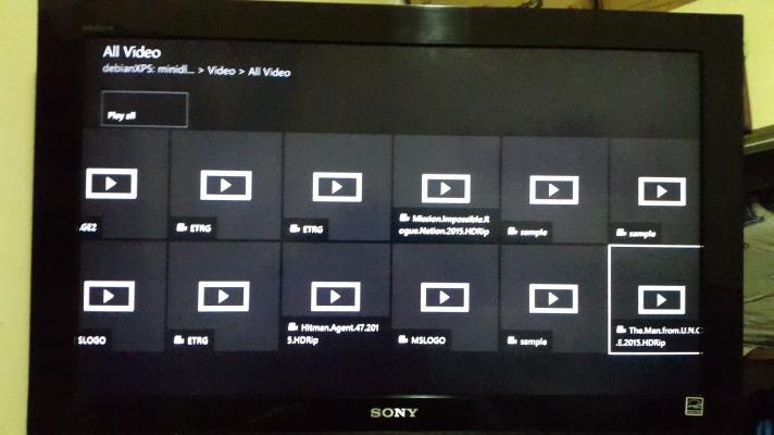 XBOX Media Player DLNA Movies